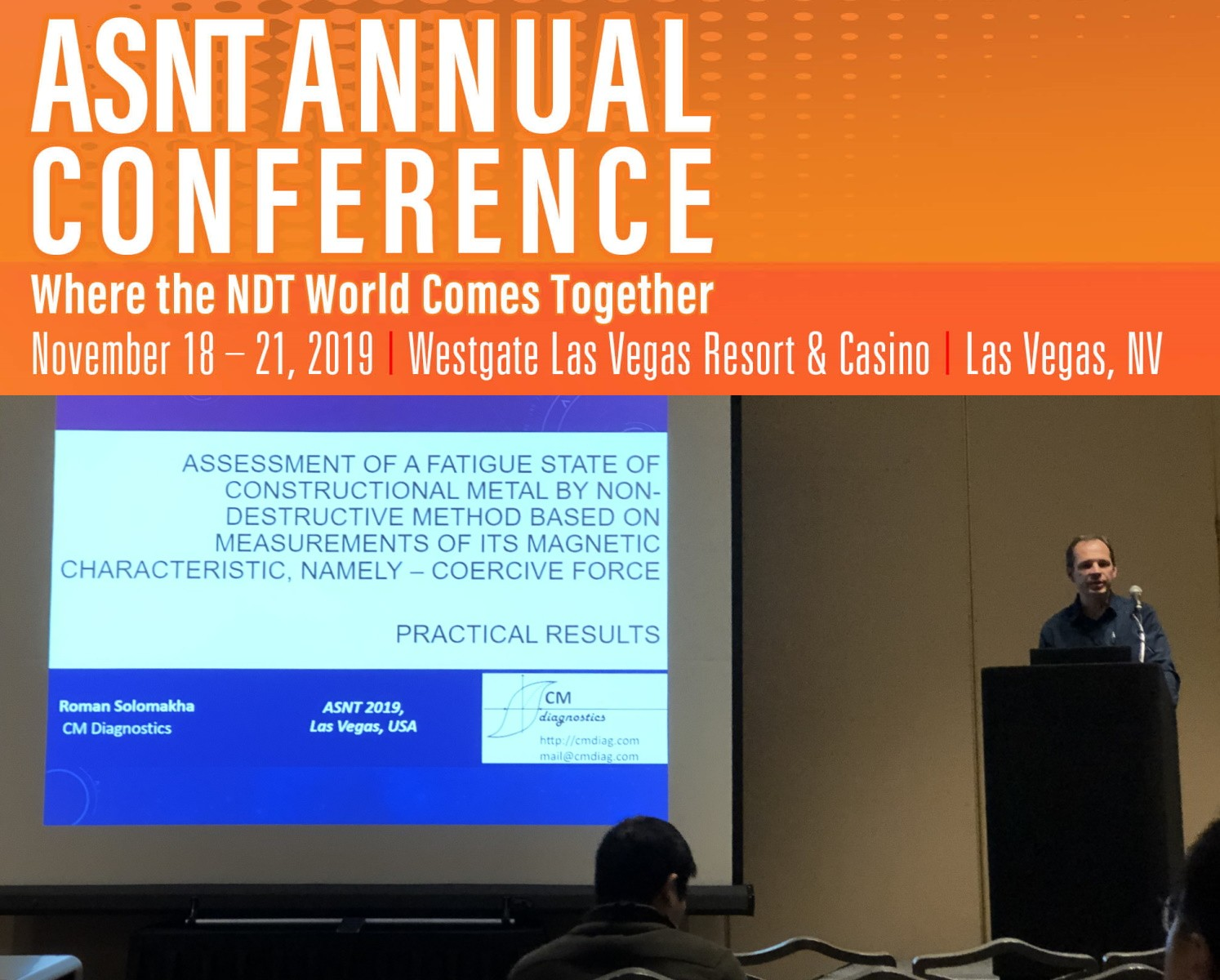 CM DIAGNOSTICS at ASNT Annual Conference 2019
